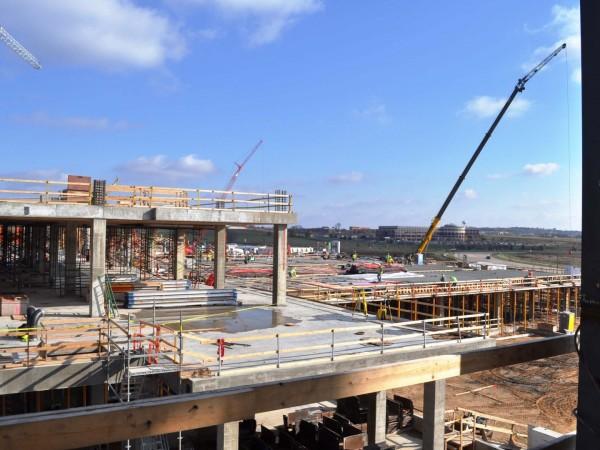 Overview of UW TAC campus under construction.
