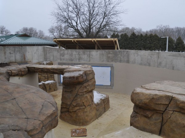 An inside look at the a few of the pools that will soon be filled for seals.