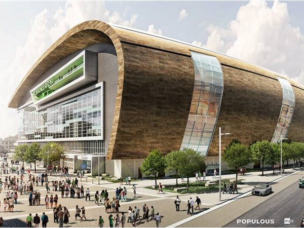 Milwaukee Bucks released rendering of the new multi-purpose arena.