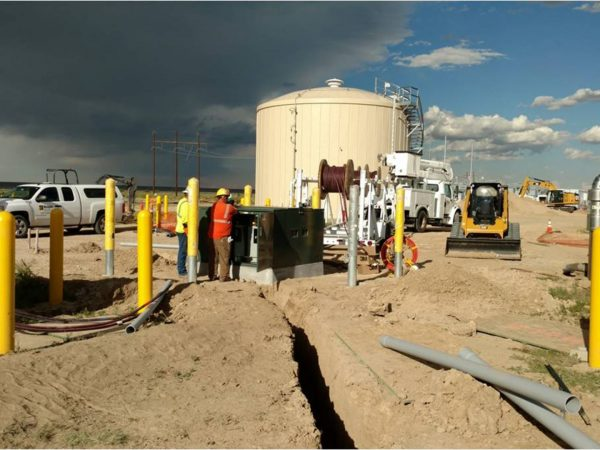 Substation workers wire and complete terminations within our outage deadline for final circuit cutover.